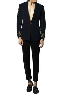 Velvet tuxedo pants