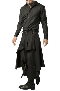 Heavy crepe layered dhoti pants
