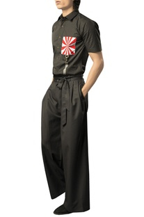 High waist hakama pants