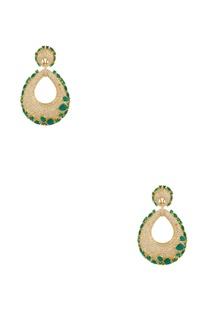 Ova shaped earrings