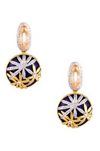 Crystal embellished dangling earrings