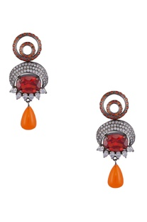 Baroque style drop earrings