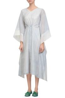 Tweed print kaftan dress