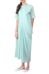 Draped dusty mint tunic