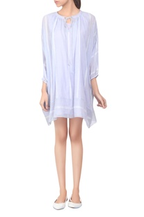 Short dress with asymmetric hemline