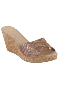 Party cross-strap 3-inch wedges