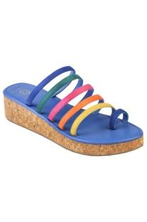 Medium platform sandals with multiple straps