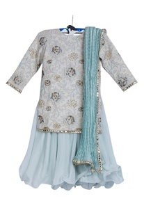 Embroidered kurta with palazzo set