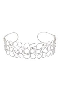 Mesh choker cuff necklace