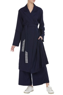 Cotton trench jacket with belt