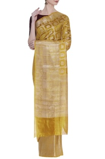 Zari katan silk woven sari
