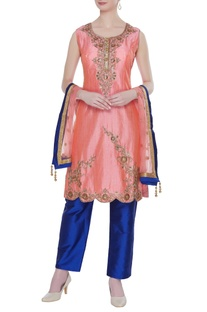 Sequin & embellished work kurta set
