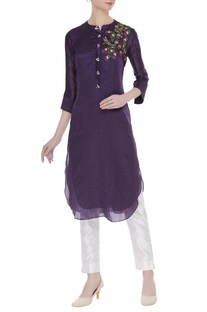 Floral Embroidered kurta with sequin work