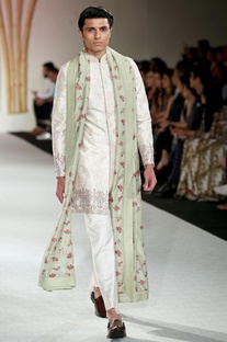 Sherwani with trouser and stole