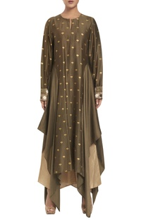 Chanderi & cotton silk asymmetric tunic