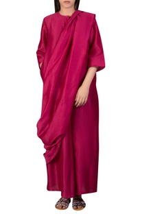 Drape sari style tunic