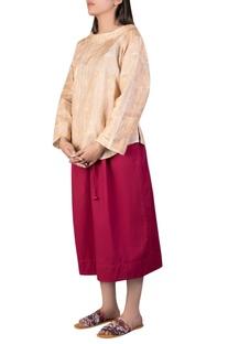 Khadi cotton hand painted blouse