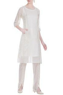 Handloom chanderi minimal tunic with inner