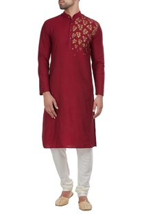 One side maple detailed kurta
