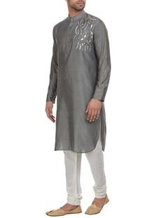 Silver detailed kurta