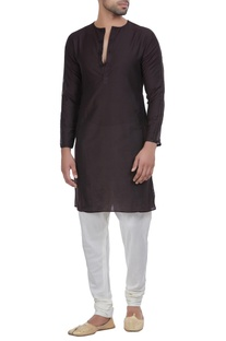 Short kurta with button placket