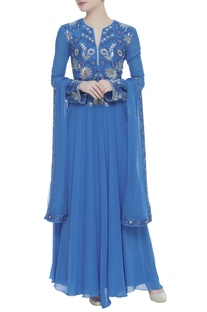 Sequin embroidered anarkali set