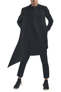 Wrap style flared jacket