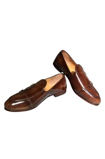 Pure leather handcrafted belt detail shoes