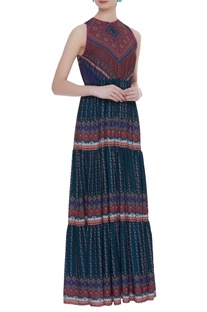 Tier gathered detail maxi dress