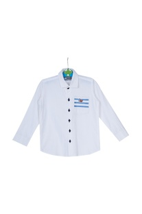 Cotton shirt with embroidered pocket