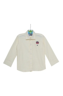Stripe pattern embroidered shirt