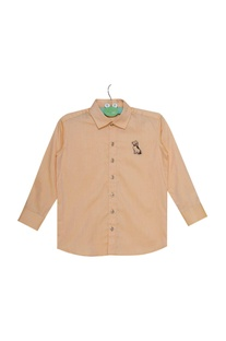 Full sleeves shirt with embroidered motif
