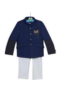 Embroidered jacket with pants