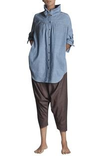 Handspun khadi button down shirt