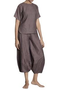 Flared panel style khadi pants