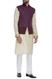 Textured nehru jacket