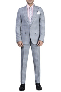 Checkered tuxedo set