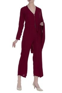 Draped style jumpsuit