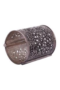 Cuff-style silver triballic bracelet