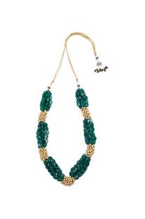 Layered necklace with semi precious stones