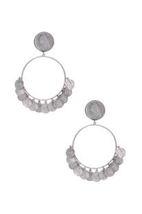 Pure silver hoop-style earrings