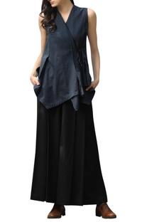 Khadi wrap style blouse