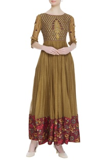 Embroidered chanderi long tunic