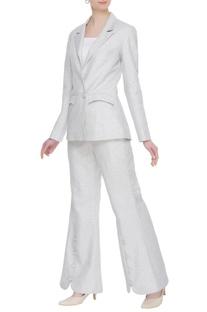 Blazer jacket with flared pants