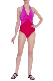 Halter twisted front monokini