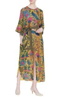 Kalamkari hand painted shirt dress