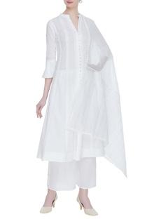 Chikankari embroidered kurta & palazzo set