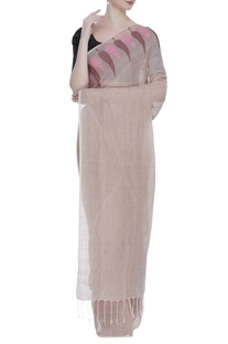 Jamdani sari with unstitched blouse fabric