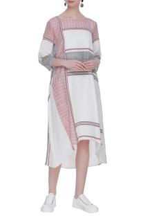 Asymmetric hemline midi dress