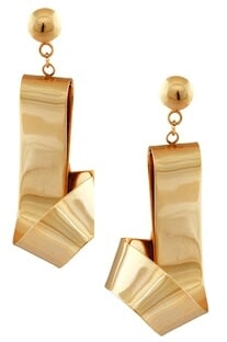 Fluid handcrafted earrings with screw closure